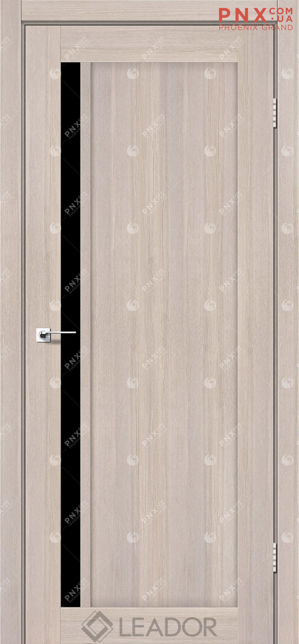 Межкомнатная дверь LEADOR Toskana, Монблан, Черное стекло
