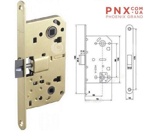 Защёлка врезная LH 96-50 P SG Матовое золото Box ARMADILLO (без ручек в комплекте )