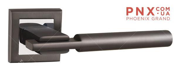 Ручка раздельная CITY QL GR/CP-23 графит/хром  PUNTO (на раздельном основании)