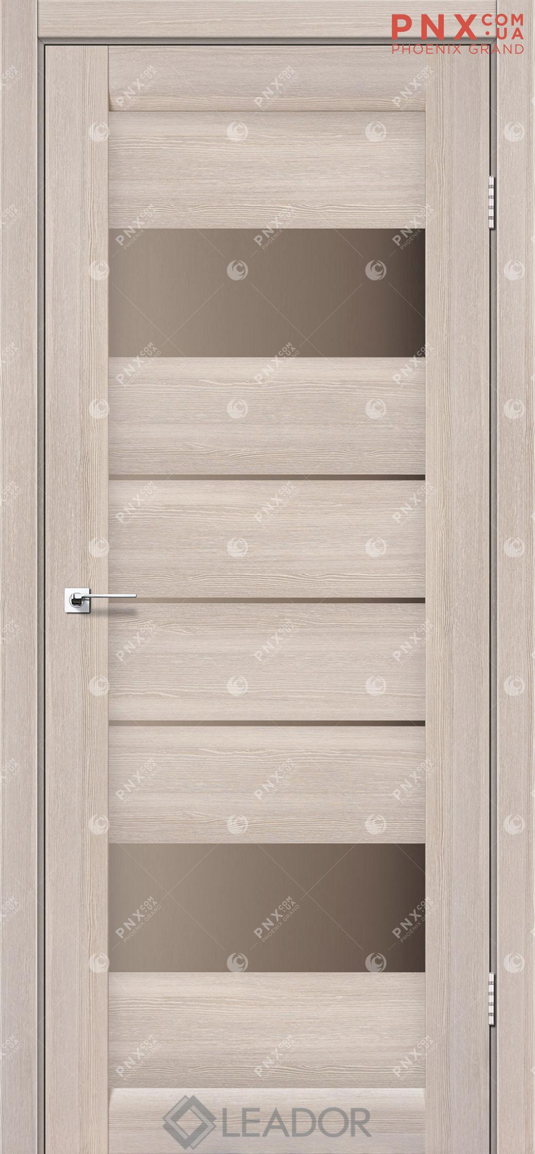 Межкомнатная дверь LEADOR Arona, Монблан, Стекло сатин бронза