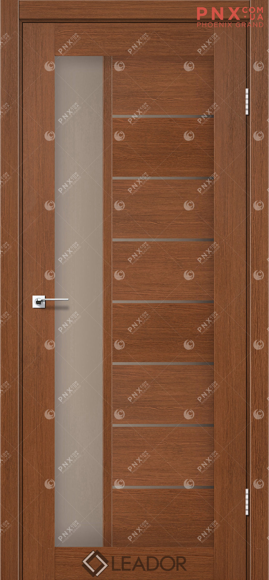 Межкомнатная дверь LEADOR Lorenza, Браун, Стекло сатин бронза