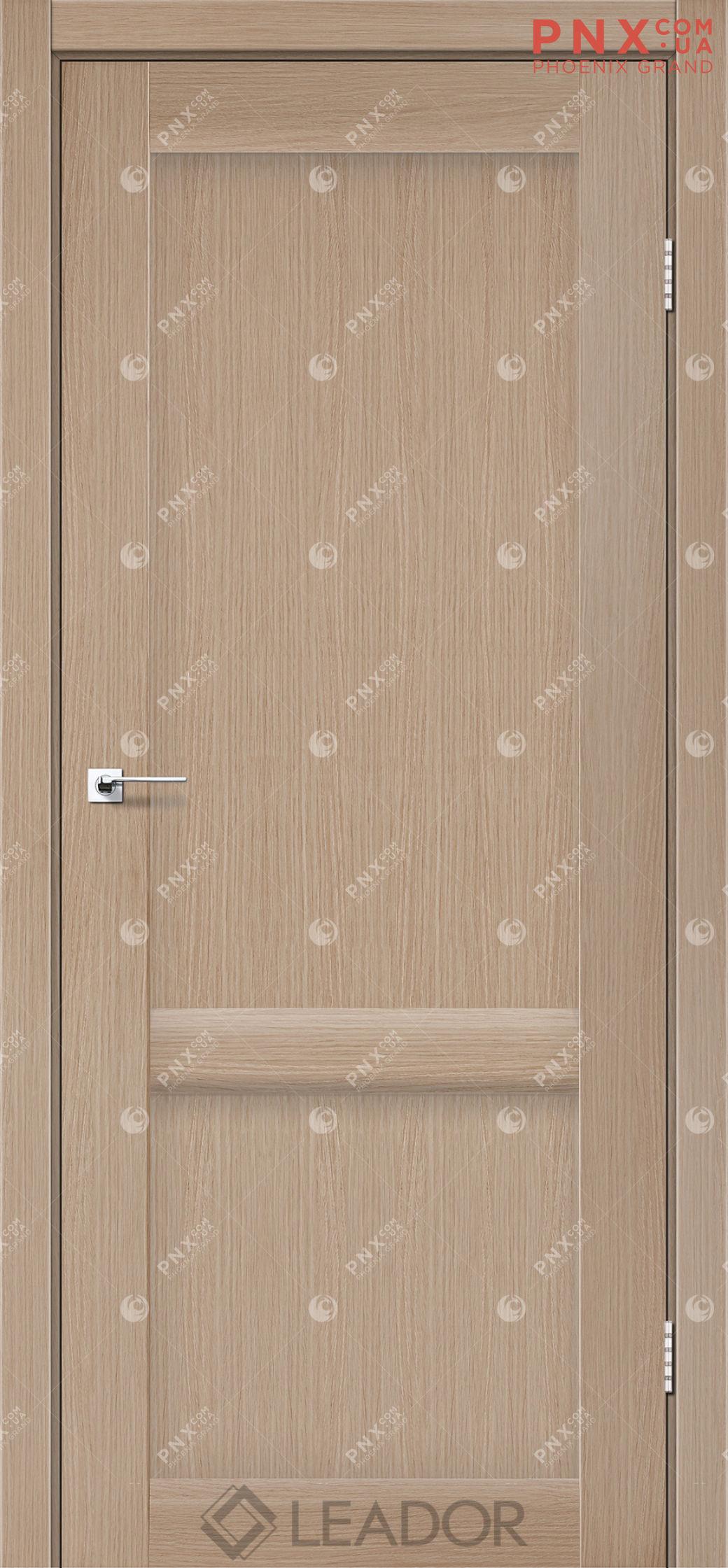 Межкомнатная дверь LEADOR Laura-LR-02, Дуб Мокко, Глухое
