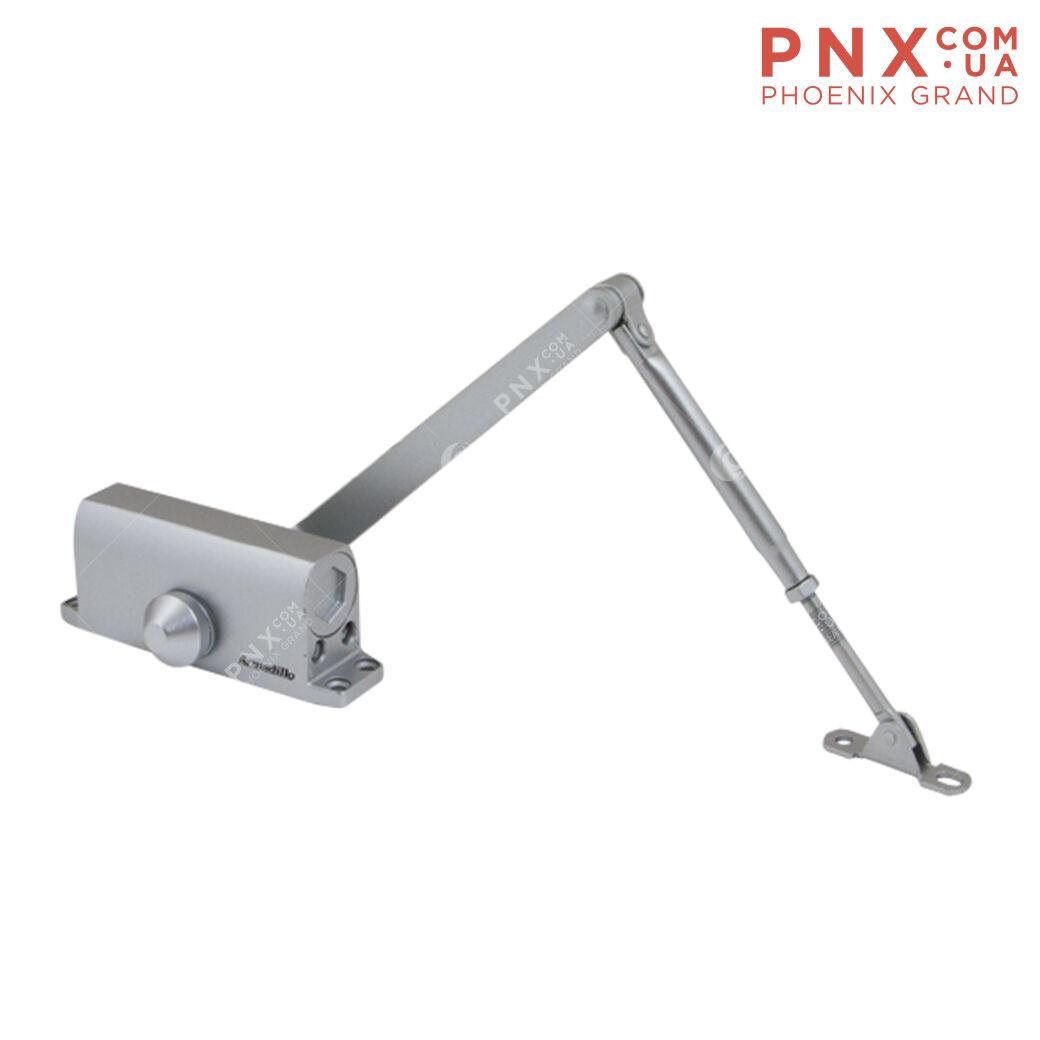 Доводчик дверной морозостойкий LY3 65 кг (алюминий) ARMADILLO (с рычажной тягой)