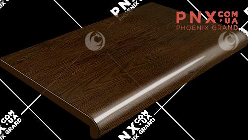 Подоконник Plastolit, цвет рустикальный дуб глянец 350 мм