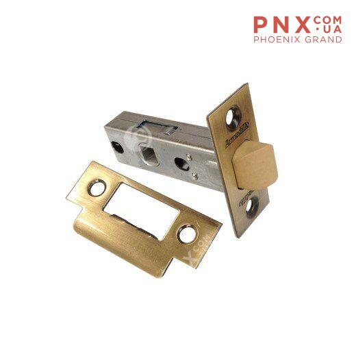 Защёлка врезная (пластик) LH 121-45-25 AB Бронза Box /прям/ ARMADILLO (для легких дверей)