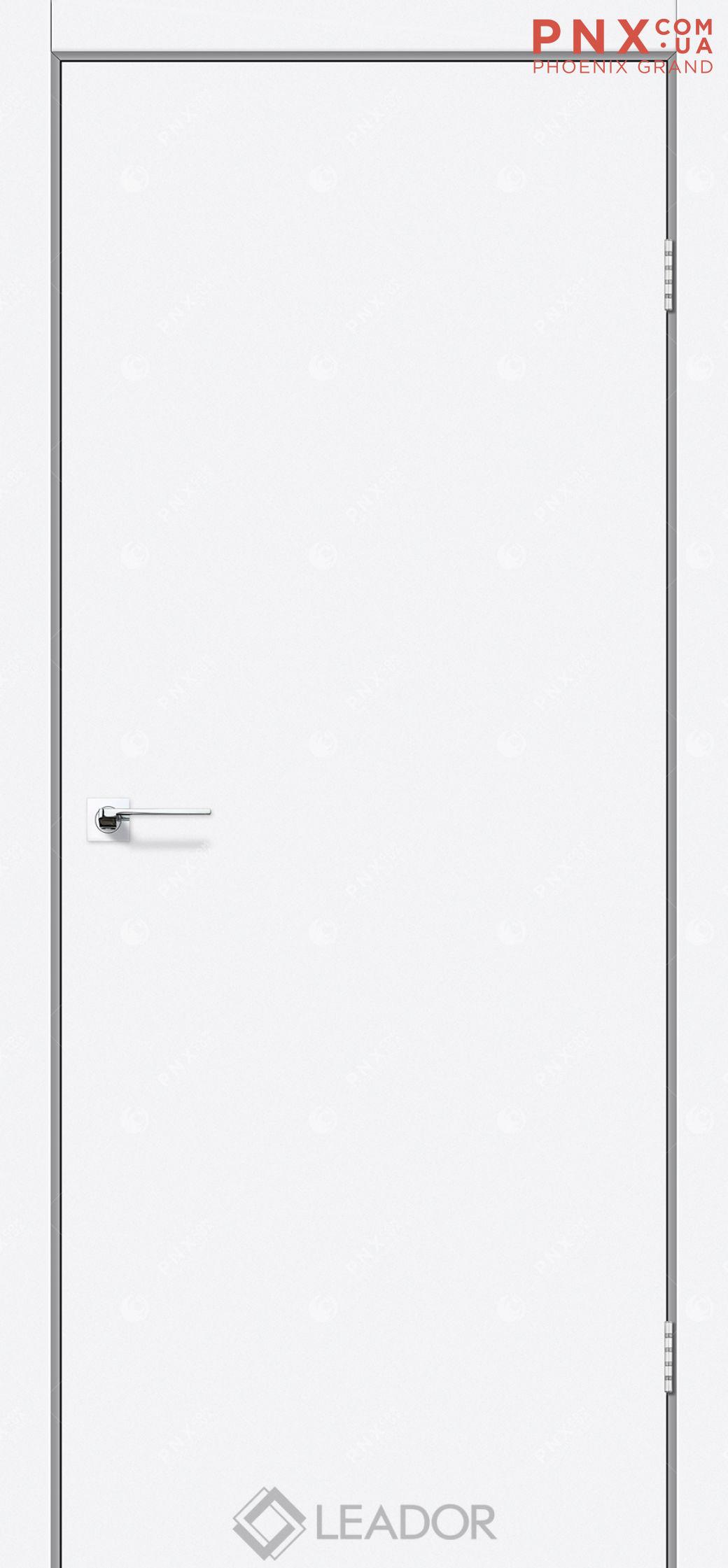 Межкомнатная дверь LEADOR Asti, Белый матовый, Глухое