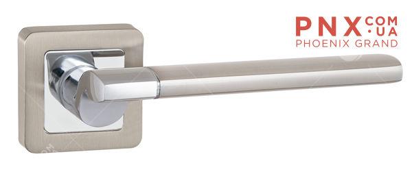 Ручка раздельная GALAXY QR SN/CP-3 матовый никель/хром PUNTO (на раздельном основании)