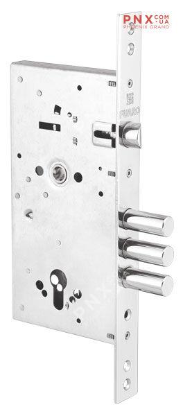 Корпус врезного замка c защёлкой V25/C-60.85.3R16 FUARO (для металлических дверей)