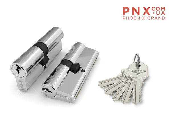 Цилиндровый механизм 100 CA 68 mm (26+10+32) PB латунь 5 кл. FUARO (с индивидуальным ключом)