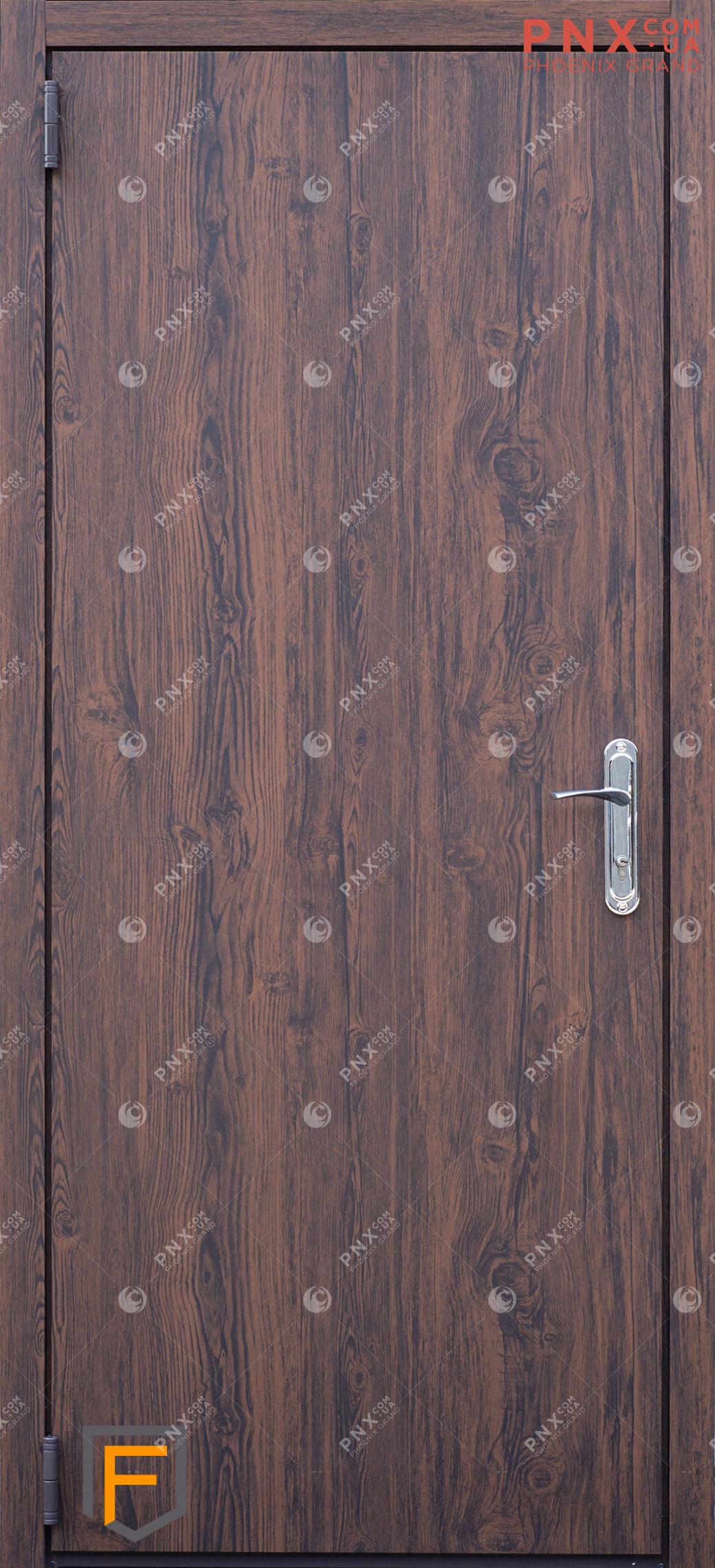 Входная дверь Форт Нокс, Техно, металл/металл темный дуб/темный дуб