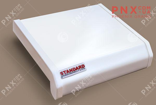 Подоконник Данке Standart, цвет белый, матовый 700 ( 2капиноса)мм