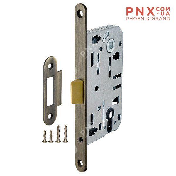 Корпус врезного замка LH 85-50 P AB (бронза) Box ARMADILLO (для легких дверей)