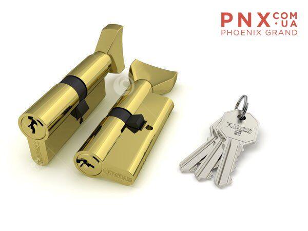 Цилиндровый механизм 100 DM/RC 68 mm (26+10+32) PB латунь FUARO (с индивидуальным ключом)