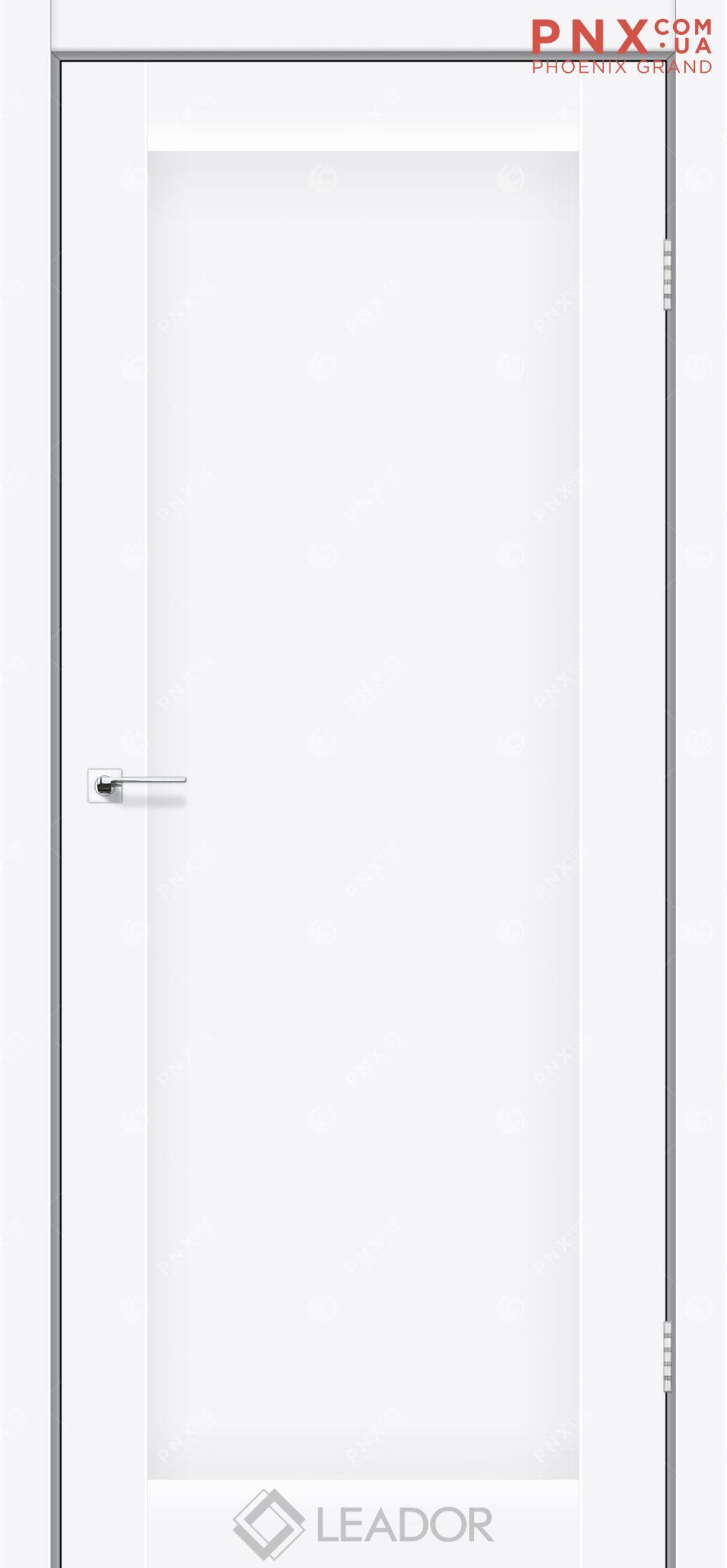Межкомнатная дверь LEADOR Bavaria, Белый матовый, Глухое