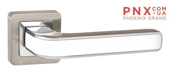 Ручка раздельная NOVA QR SN/WH-19 мат.никель/белый PUNTO (на раздельном основании)