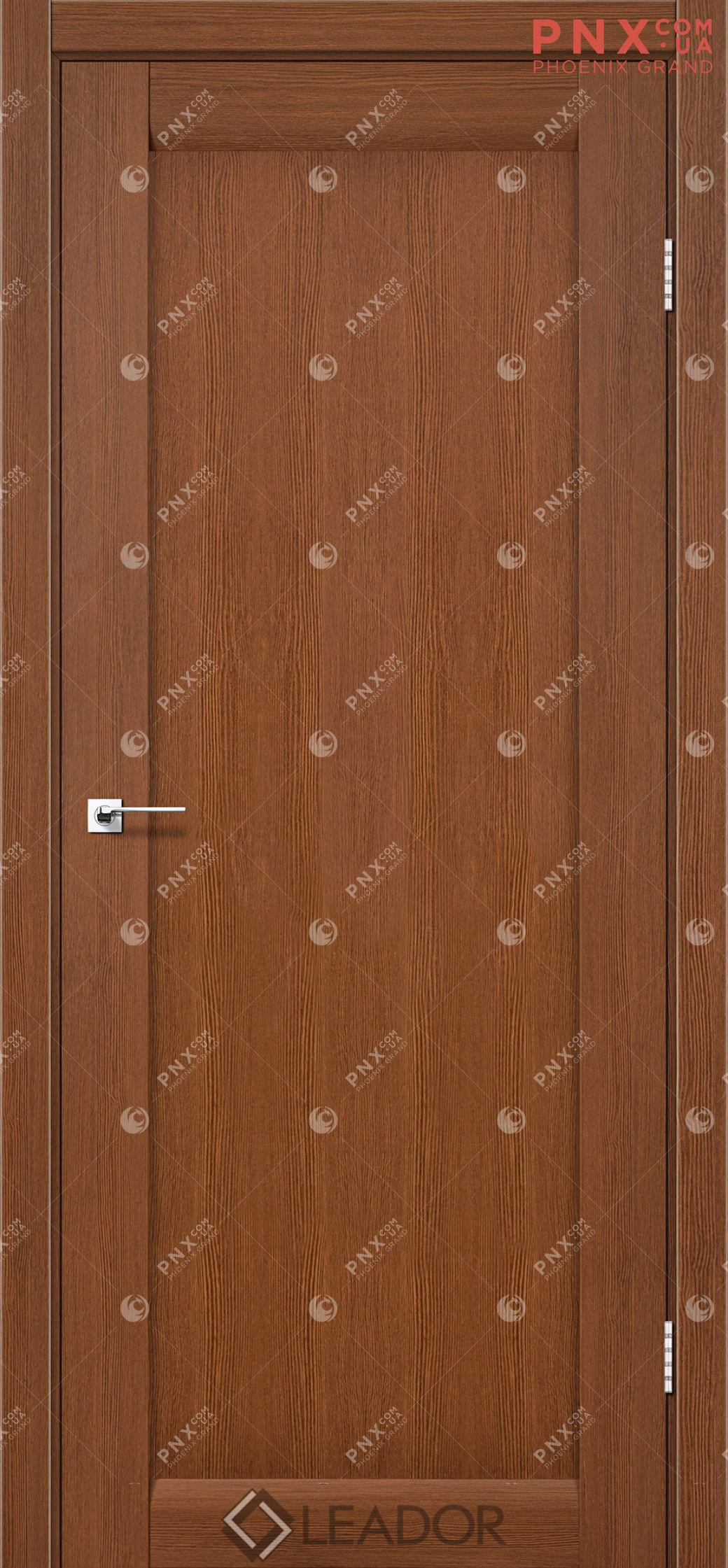 Межкомнатная дверь LEADOR Bavaria, Браун, Глухое