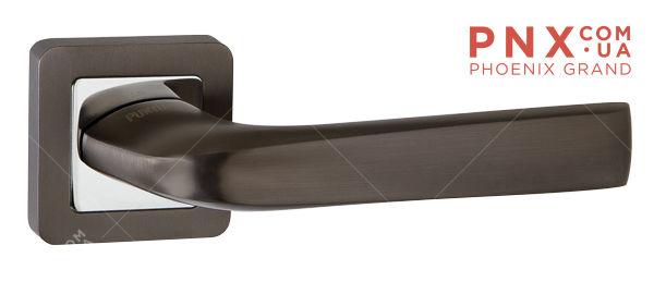 Ручка раздельная SATURN QR GR/CP-23 графит/хром PUNTO (на раздельном основании)