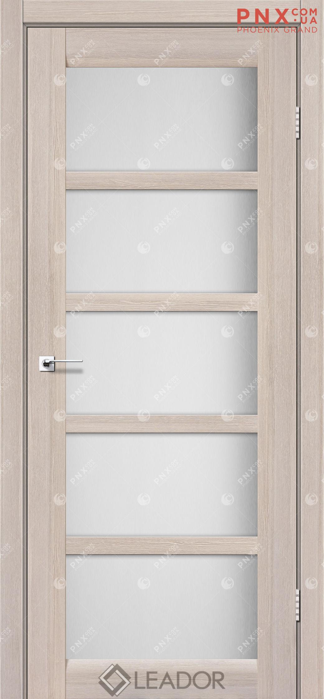 Межкомнатная дверь LEADOR Veneto, Монблан, Белое стекло сатин