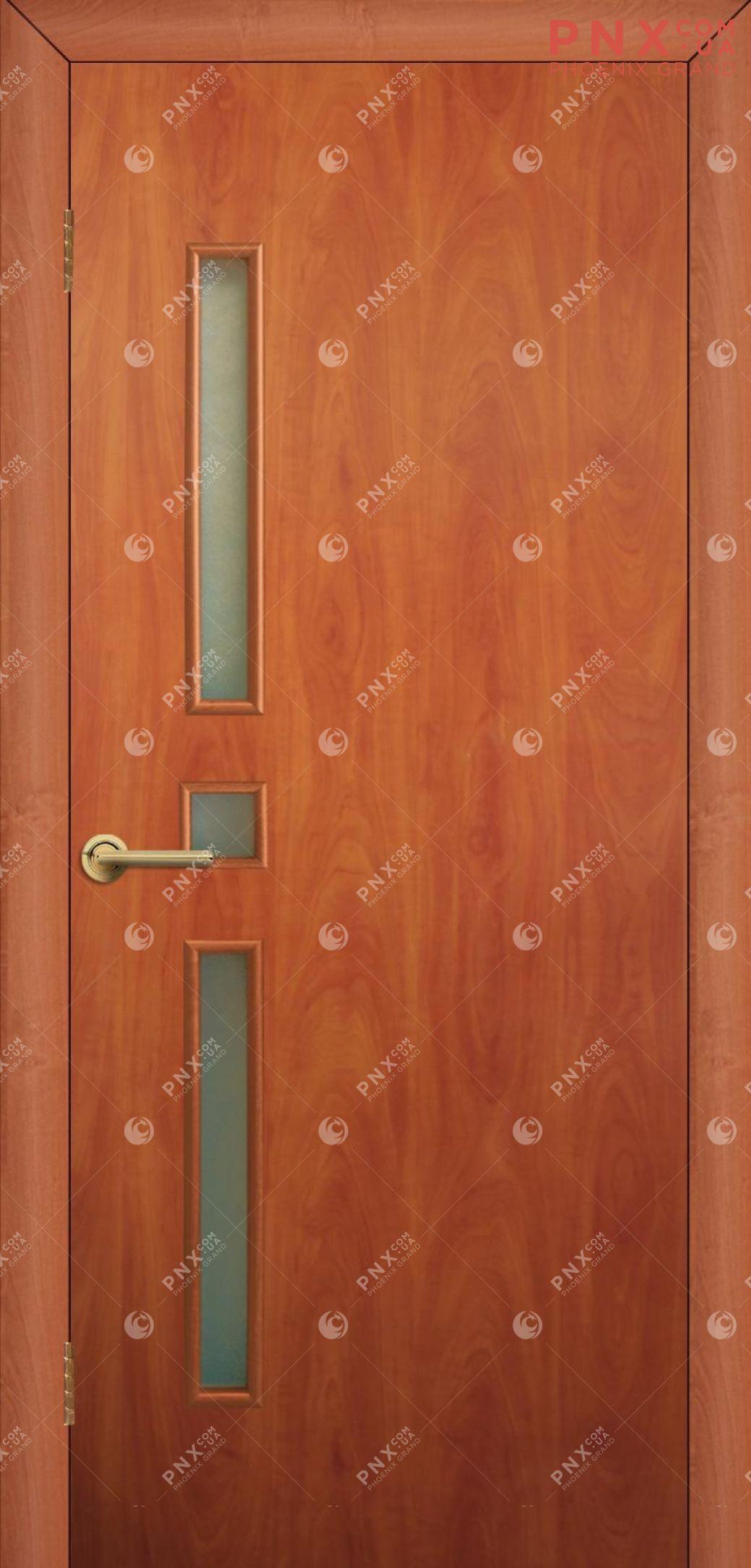 Межкомнатная дверь, , МДФ, Финиш пленка, Комфорт ПО, орех, стекло сатин