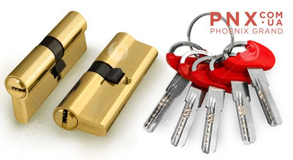 Цилиндровый механизм D-PRO500/60 mm (25+10+25) PB латунь 5 кл. FUARO (с индивидуальным ключом)