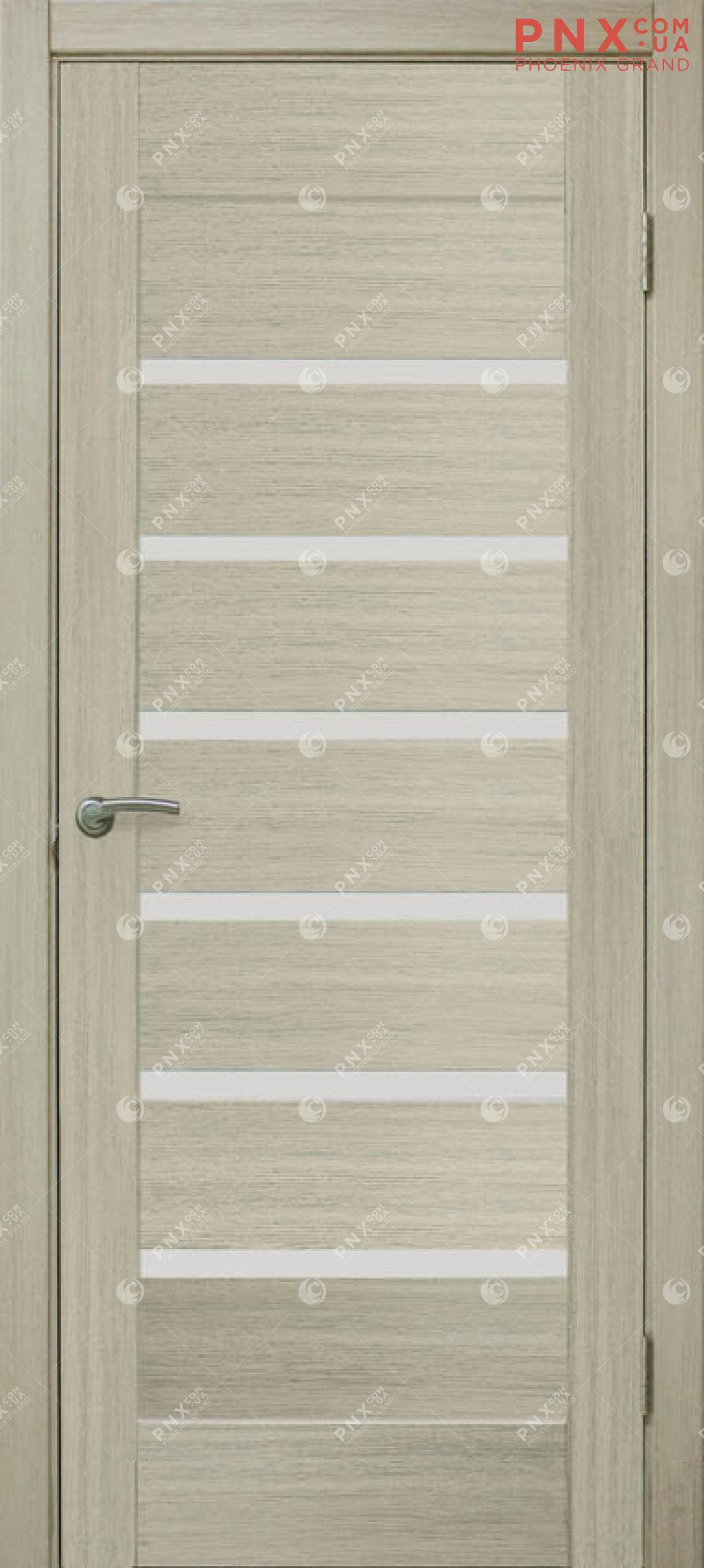 Межкомнатная дверь, , ПВХ, 5-й Элемент,Лагуна, дуб беленный, стекло сатин