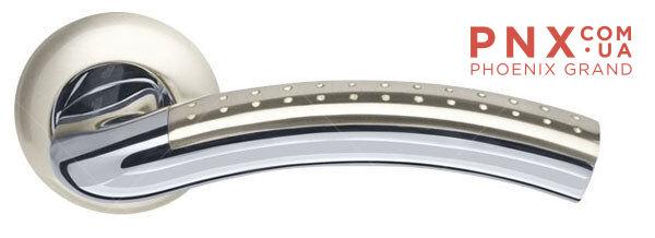 Ручка раздельная Libra LD26-1SN/CP-3 матовый никель/хром ARMADILLO