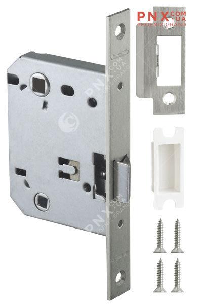 Защелка врезная LH 720-50 SN-3 Мат. никель BOX на 70мм /прям/ ARMADILLO (без ручек в комплекте )