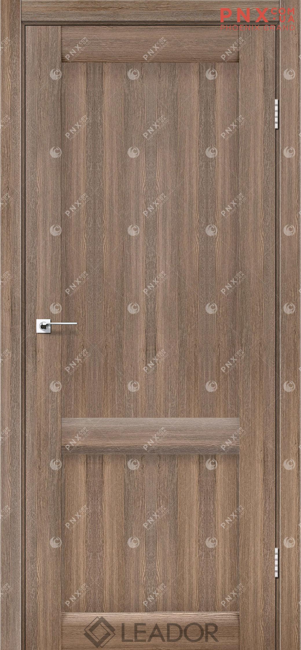 Межкомнатная дверь LEADOR Laura-LR-02, Серое дерево, Глухое