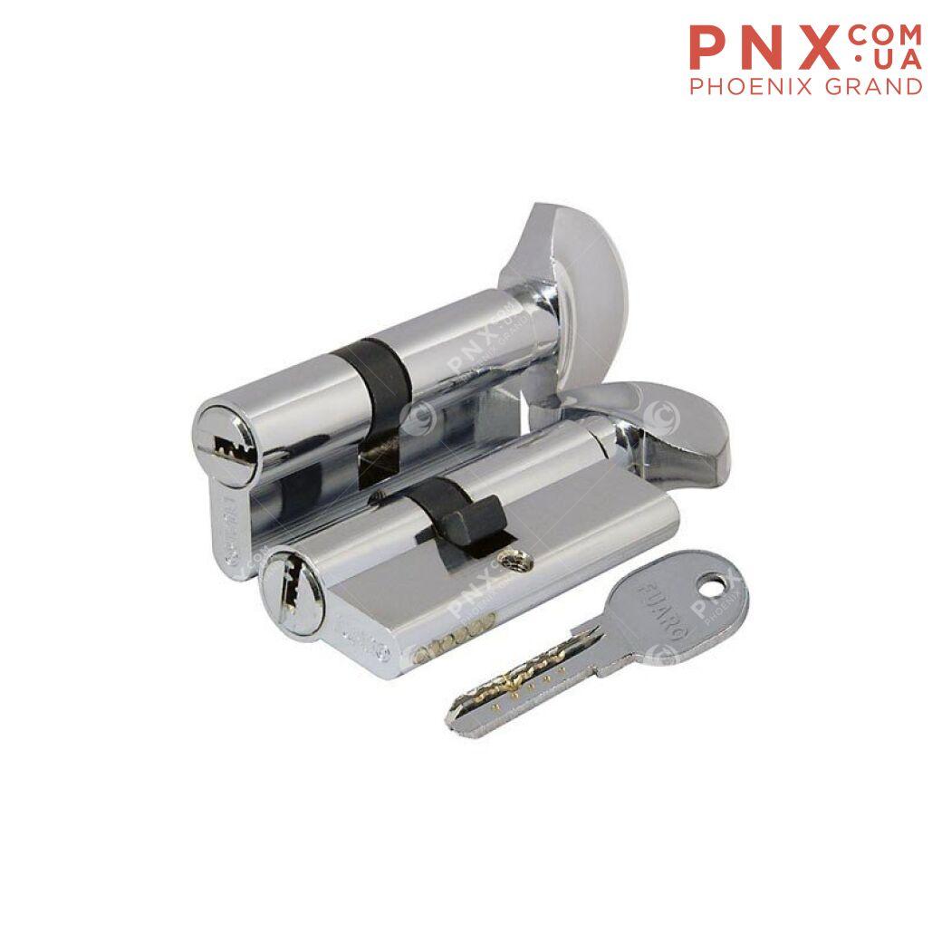 Цилиндровый механизм 100 DA/RC 90 mm (40+10+40) CP хром FUARO (с индивидуальным ключом)