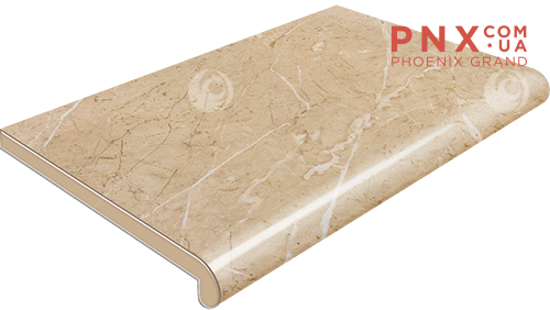 Подоконник Plastolit, цвет бежевый мармур глянец 250 мм