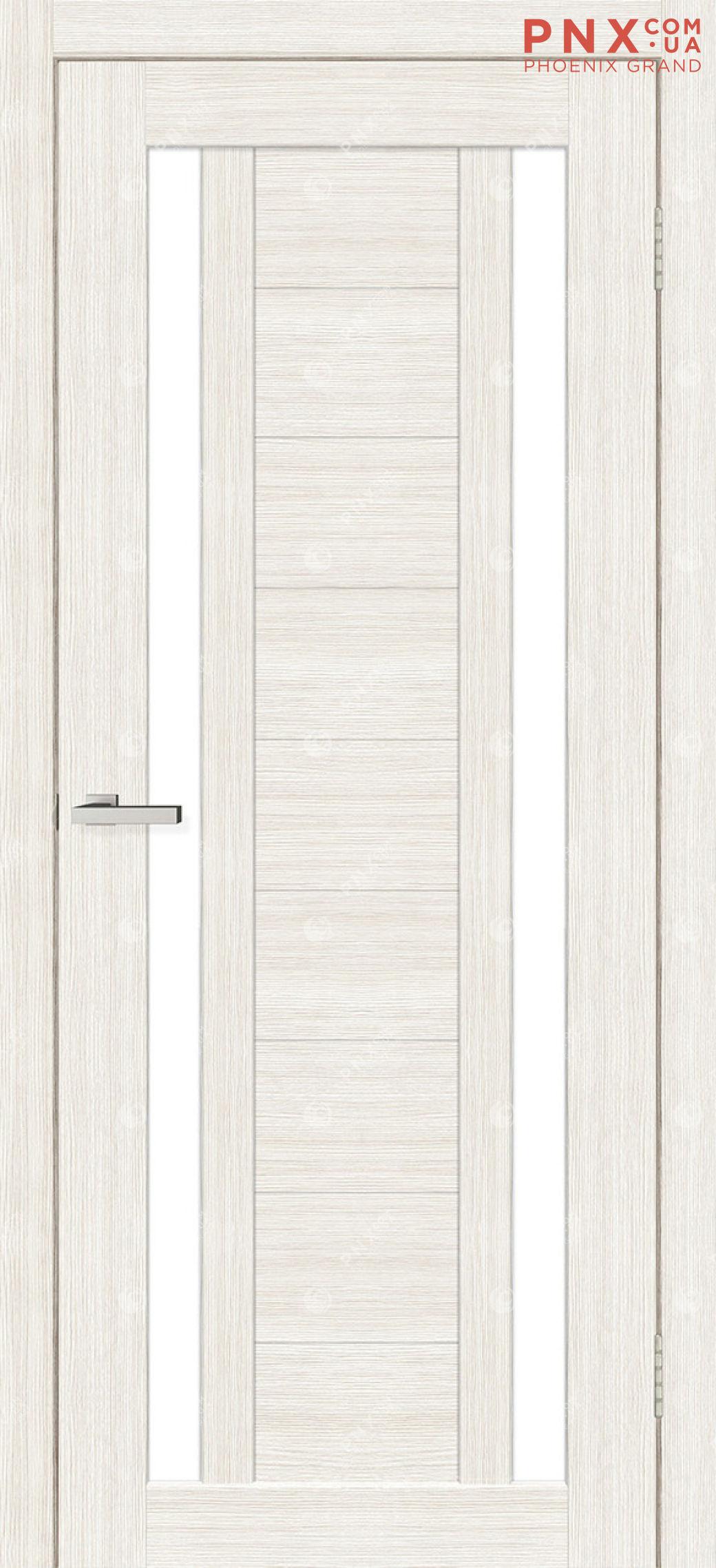 Межкомнатная дверь, , Cortex Deco 02, дуб bianco, стекло сатин