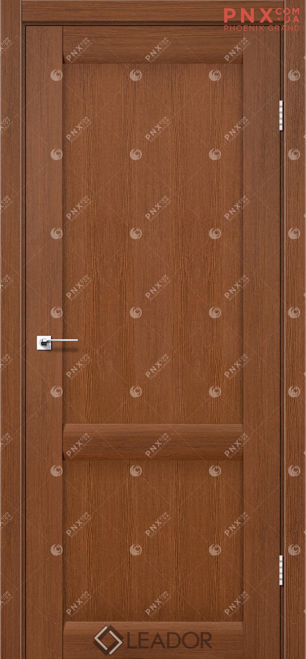 Межкомнатная дверь LEADOR Laura-LR-02, Браун, Глухое