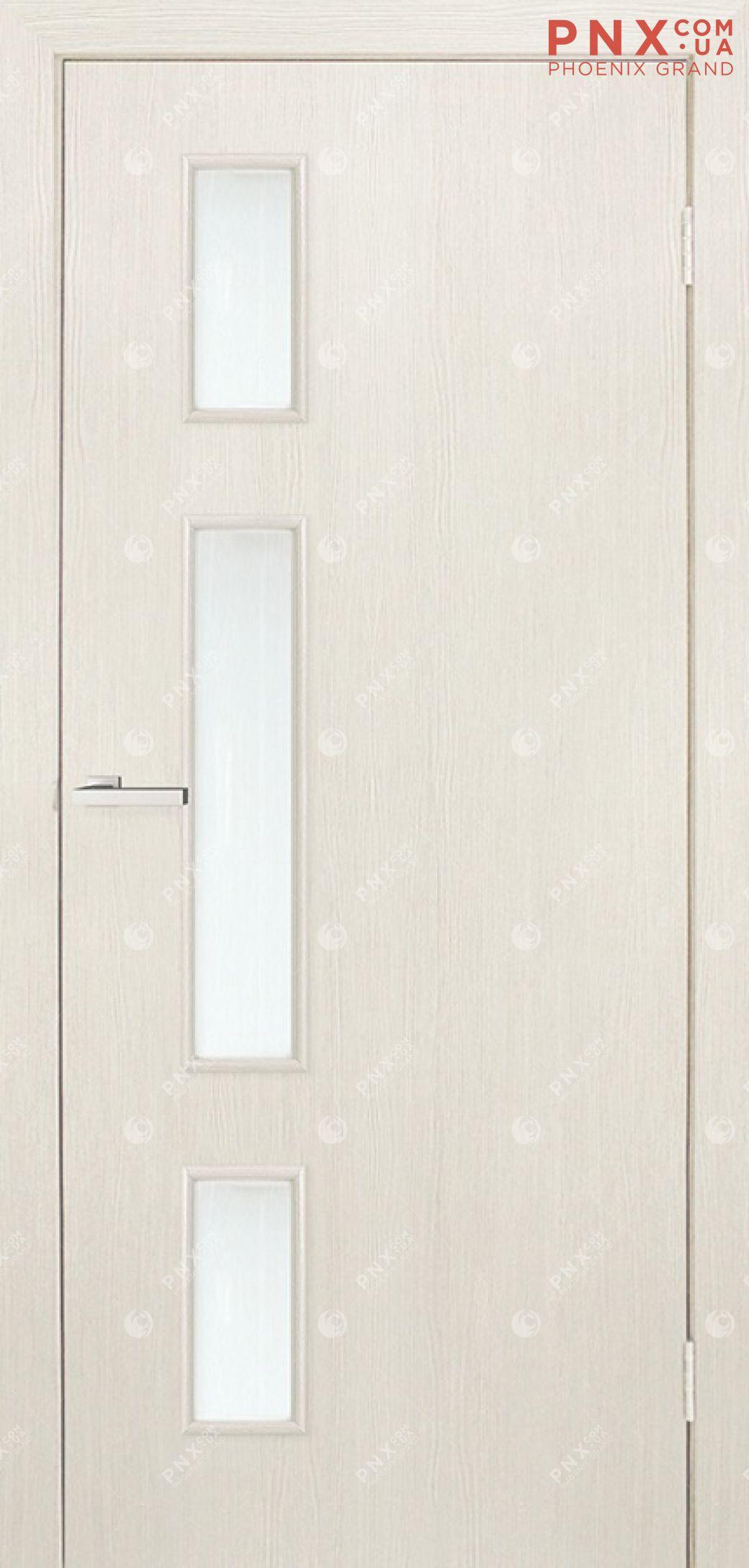 Межкомнатная дверь, , МДФ, Финиш пленка, Соло ПО, сосна сицилия, стекло сатин