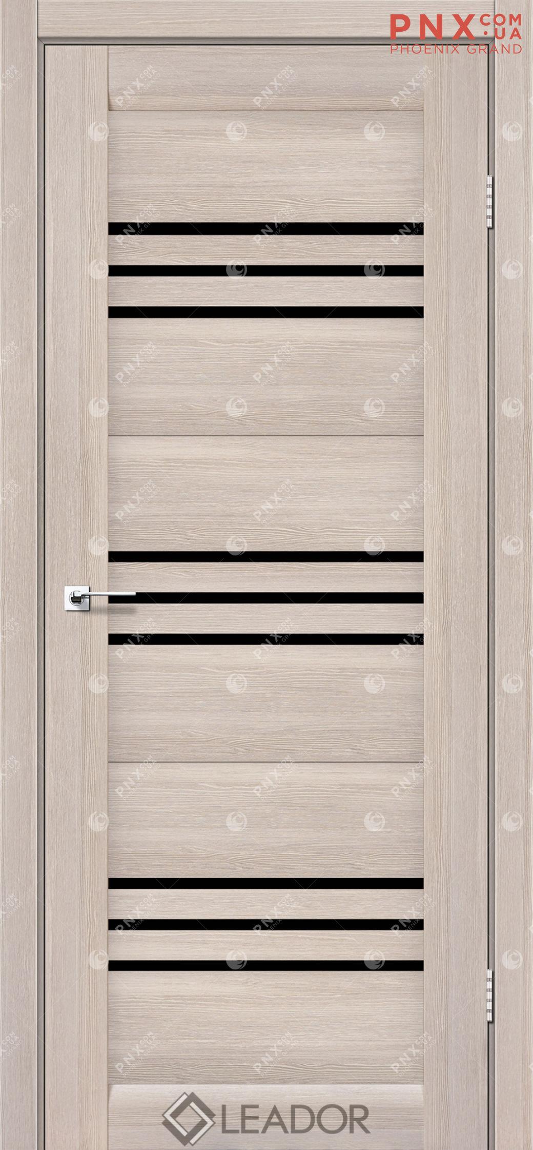 Межкомнатная дверь LEADOR Sovana, Монблан, Черное стекло