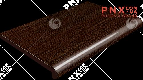 Подоконник Plastolit, цвет венге матовый (2 капиноса)600 мм