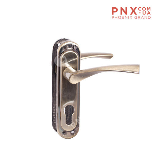 Ручка дверная CORONA STL kYale 62 mm SN/СP PUNTO (на планке)