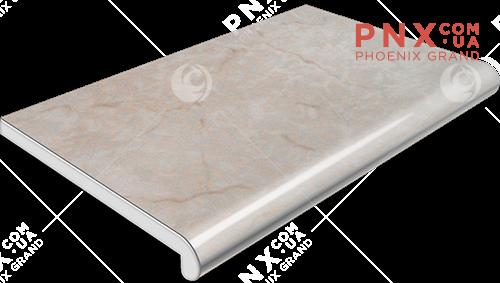Подоконник Plastolit, цвет мармур матовый (2 капиноса) 600 мм