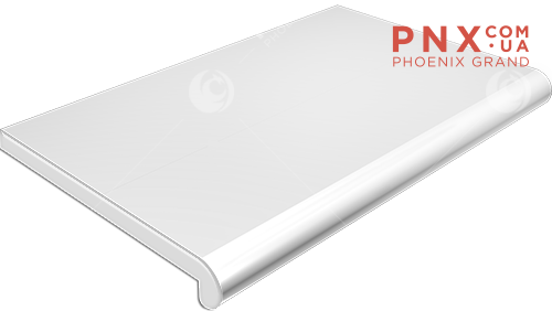 Подоконник Plastolit, цвет белый глянец 400 мм