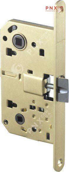LH 19-50 SG BOX Защелка межкомнатная с планкой (матовое золото) ARMADILLO (без ручек в комплекте )