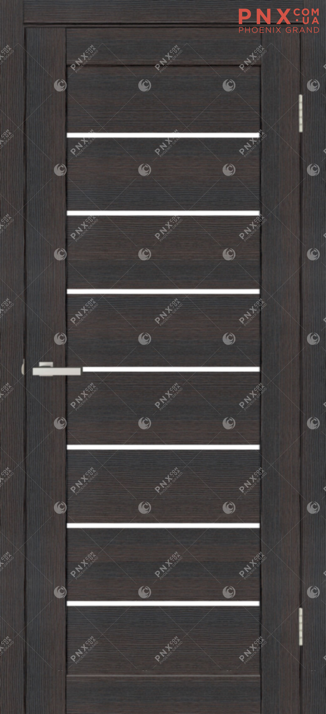 Межкомнатная дверь, , Cortex Deco 10, дуб wenge, стекло сатин