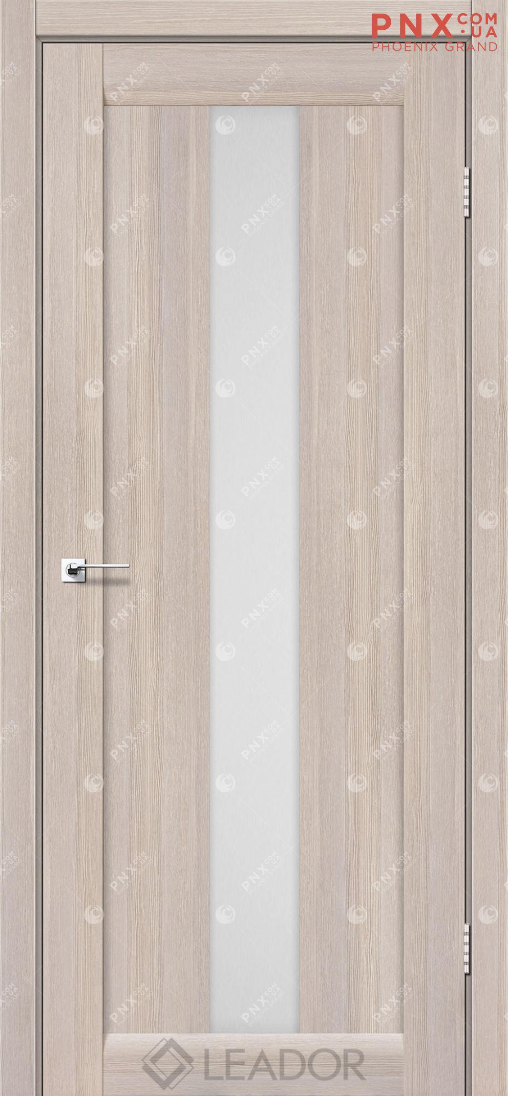 Межкомнатная дверь LEADOR Bari, Монблан, Белое стекло сатин