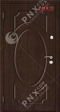 Входная дверь стандарт модель 101 винорит/винорит , темная вишня винорит/темная вишня винорит, глухое