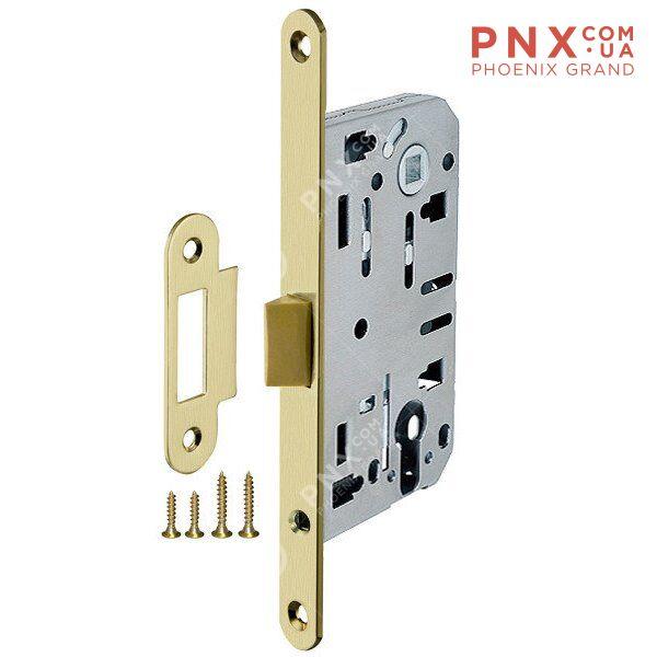 Корпус врезного замка LH 85-50 P SG (матовое золото) Box ARMADILLO (для легких дверей)