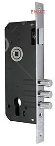 Корпус врезного замка с защёлкой 900 3MR/CP W/B (хром), тех. упаковка FUARO (для легких дверей)
