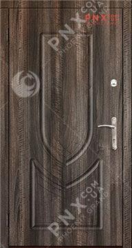 Входная дверь Саган Стандарт Модель 126, влагостойкая/влагостойкая , седой орех темный/седой орех темный, глухое