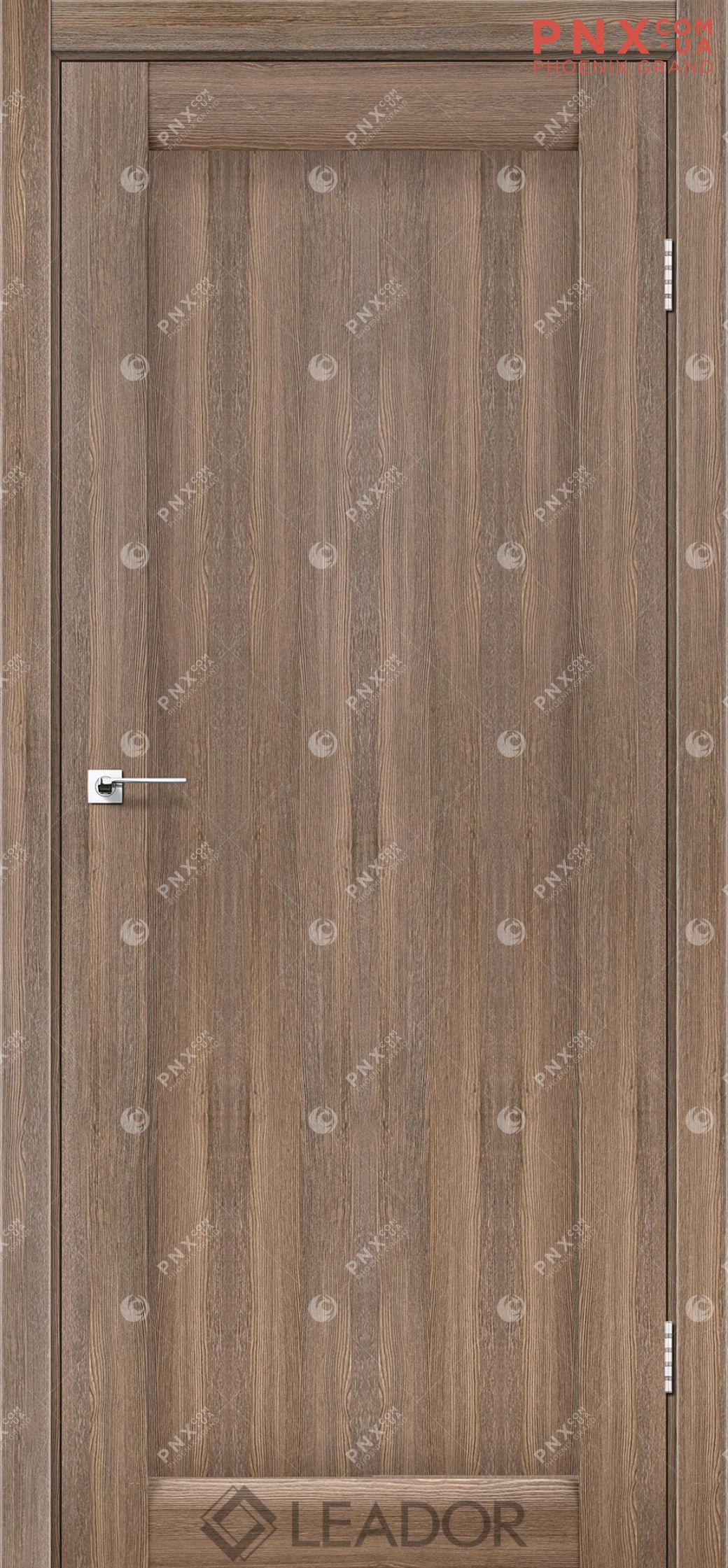 Межкомнатная дверь LEADOR Bavaria, Серое дерево, Глухое