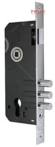 Корпус врезного замка с защёлкой 900 3MR/CP W/B (хром), тех. упаковка ECO  FUARO (для легких дверей)