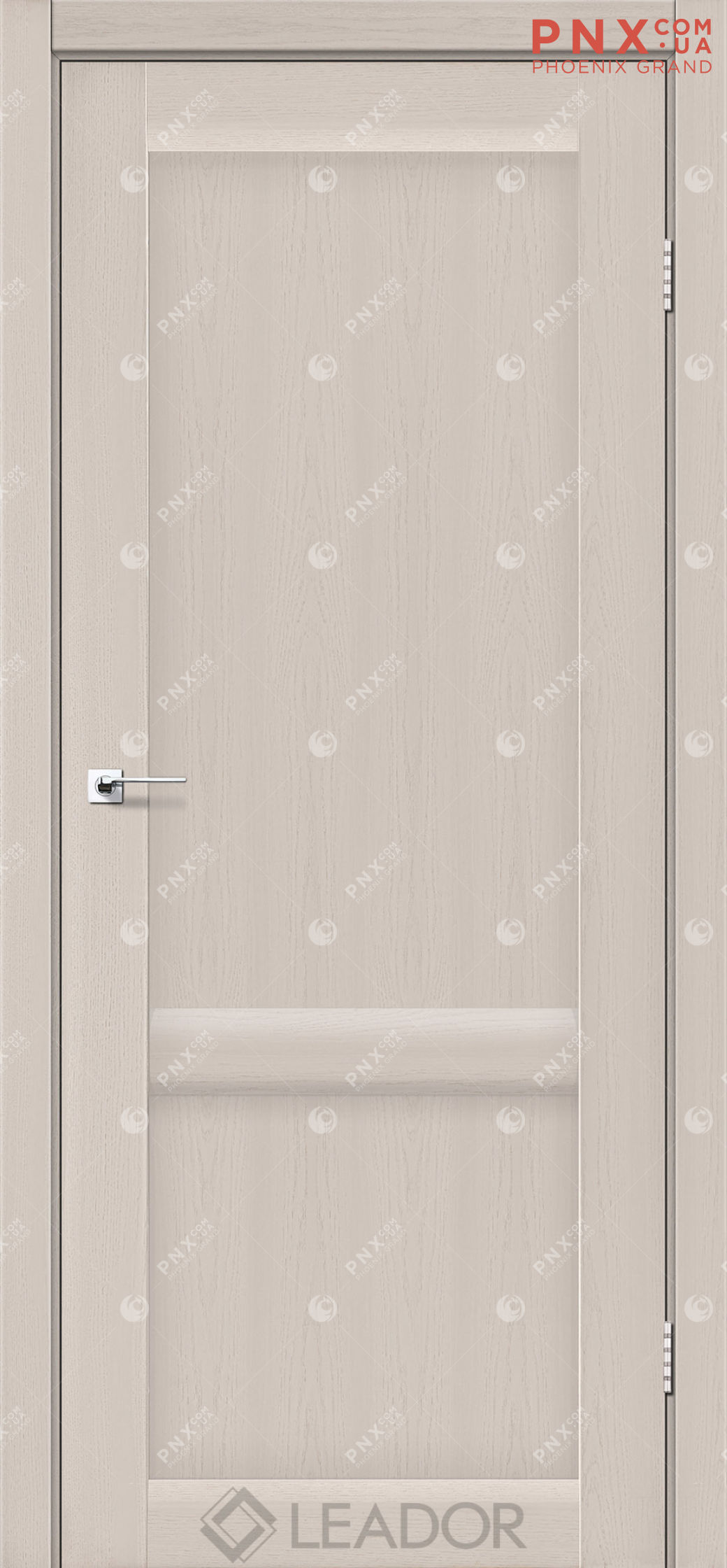 Межкомнатная дверь LEADOR Laura-LR-02, Дуб Латте, Глухое
