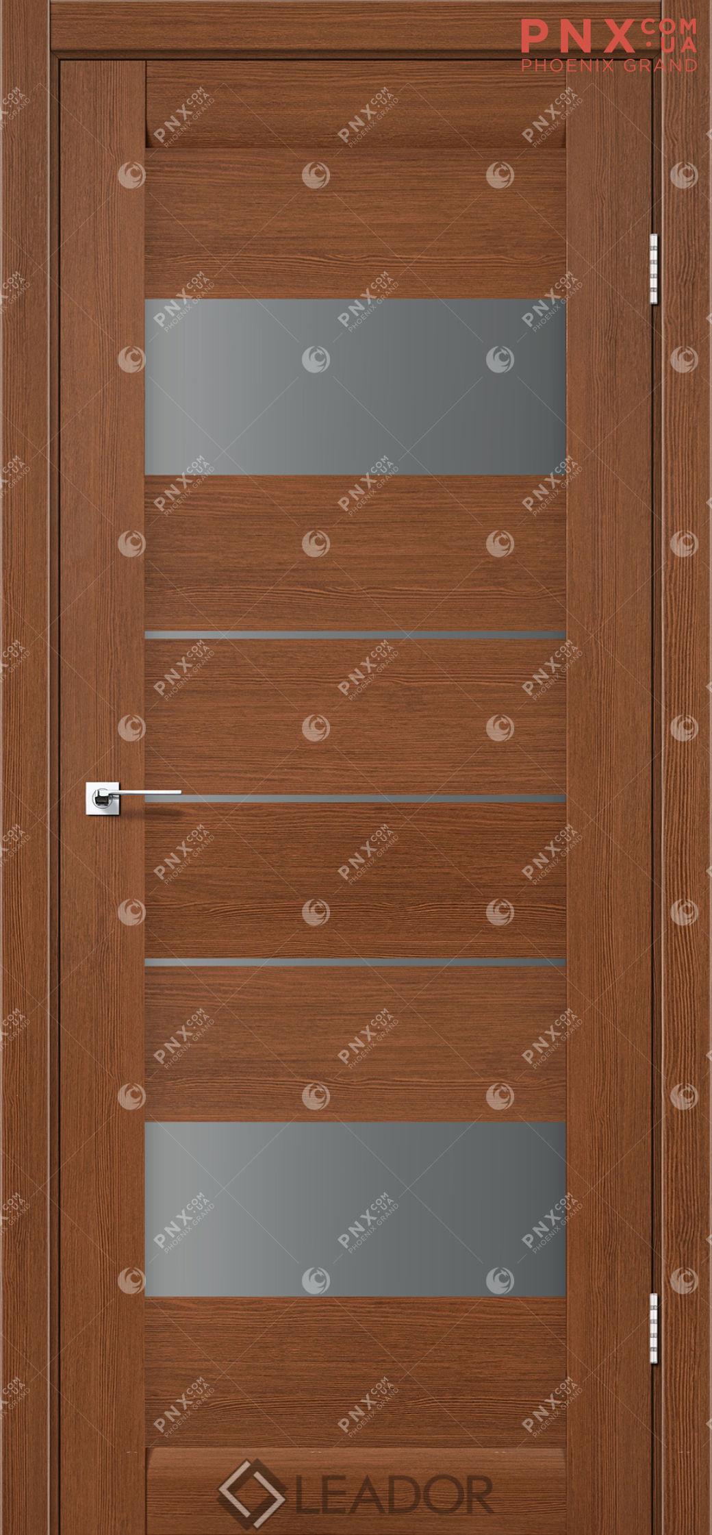 Межкомнатная дверь LEADOR Arona, Браун, Стекло серый графит
