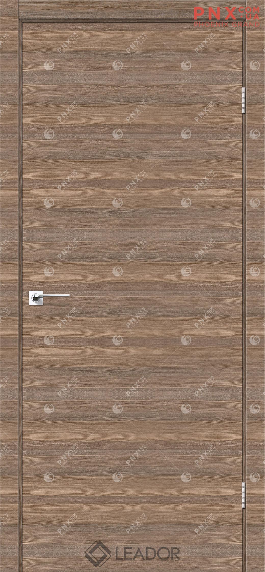 Межкомнатная дверь LEADOR Asti, Серое дерево, Глухое